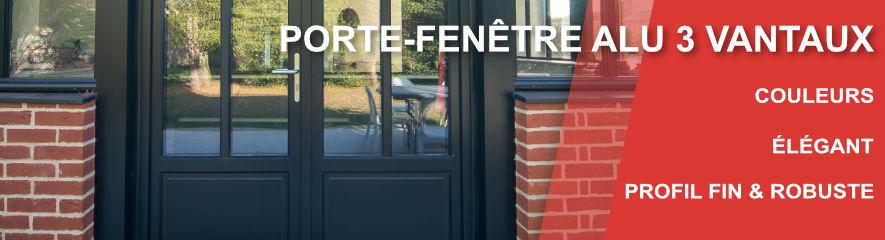 Porte Fenetre ALU 3 vantaux