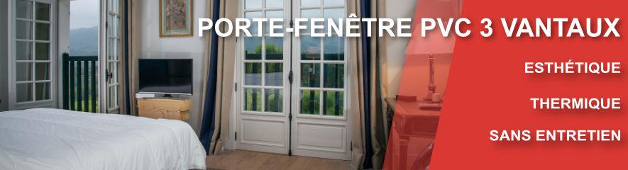 Porte Fenetre PVC 3 vantaux
