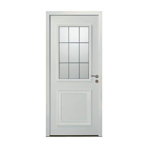 Porte d'entrée ALU modèle AL806 avec pose