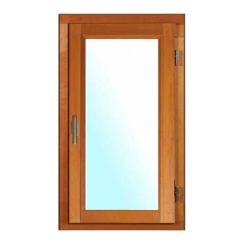 Fenêtre BOIS à recouvrement 1 vantail ouverture à la française