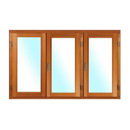 Fenêtre BOIS à recouvrement 3 vantaux ouverture à la française