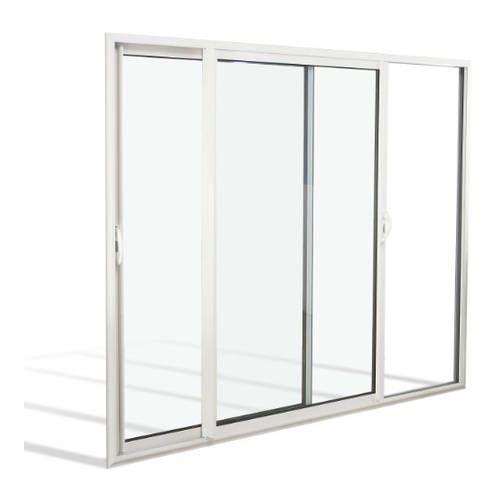 Fenêtre coulissante à galandage ALU 4 vantaux bi-rail