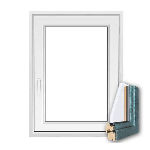 Fenêtre mixte BOIS/ALU 1 vantail ouverture à la française