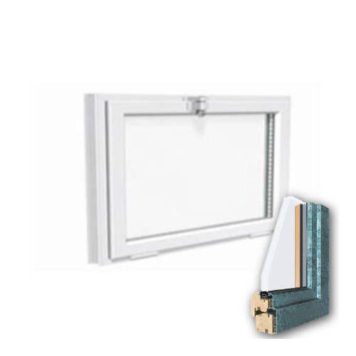 Fenêtre mixte BOIS/ALU 1 vantail Soufflet abattant