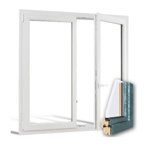 Fenêtre mixte BOIS/ALU 2 vantaux ouverture à la française
