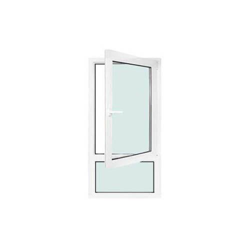 Fenêtre PVC 1 vantail ouverture à la française avec allège fixe avec pose