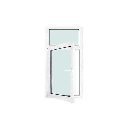 Fenêtre PVC 1 vantail ouverture à la française avec imposte fixe