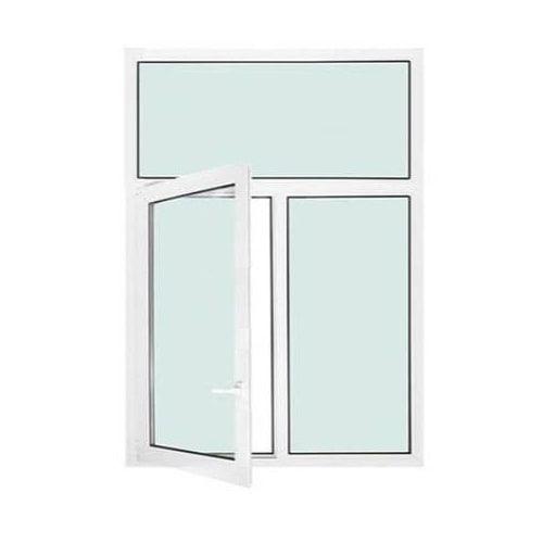 Fenêtre PVC 2 vantaux ouverture à la française avec imposte fixe
