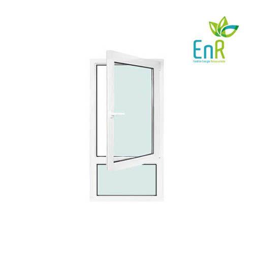 Fenêtre PVC EnR 1 vantail ouverture à la française avec allège fixe