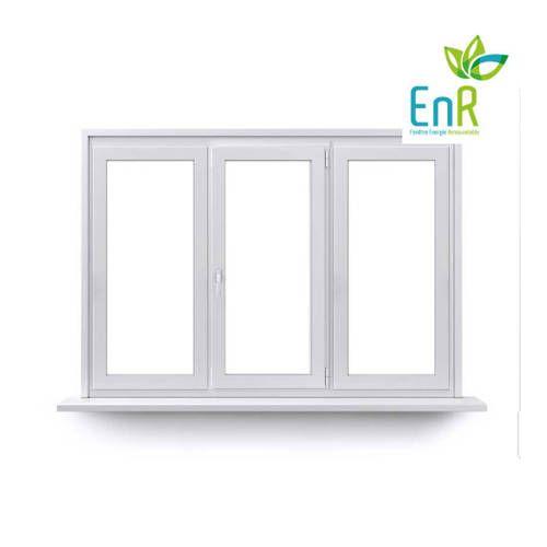 Fenêtre PVC EnR 1 vantail ouverture à la française avec un latéral fixe