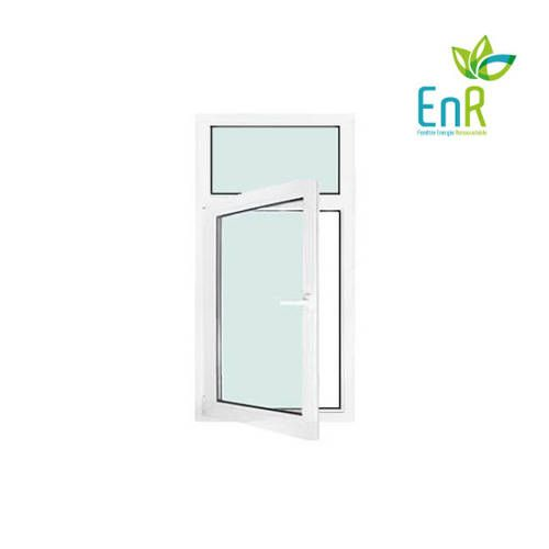 Fenêtre PVC EnR 1 vantail ouverture à la française avec imposte fixe