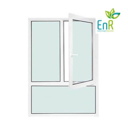 Fenêtre PVC EnR 2 vantaux ouverture à la française avec allège fixe
