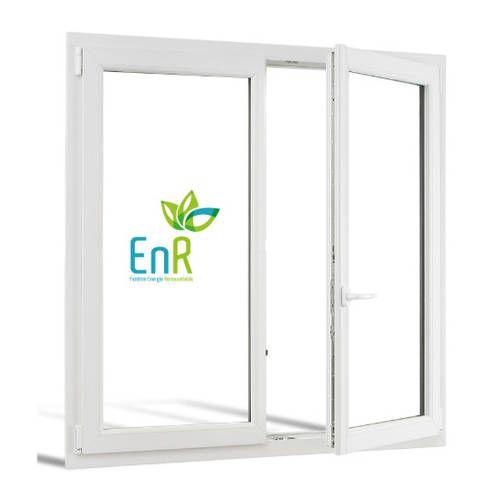 Fenêtre PVC EnR 2 vantaux ouverture à la française
