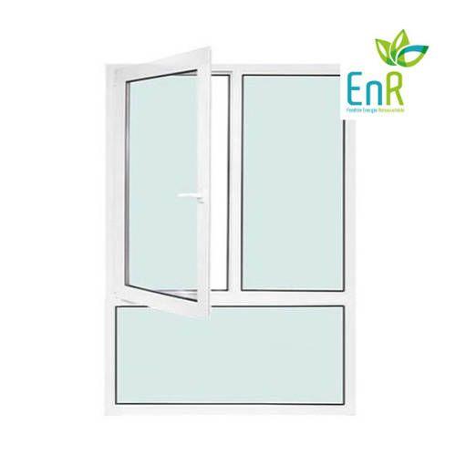 Fenêtre PVC EnR 2 vantaux ouverture à la française avec imposte fixe