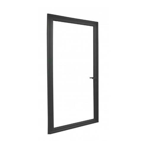 Porte fenêtre ALU ouvrant caché 1 vantail ouverture à la française avec pose