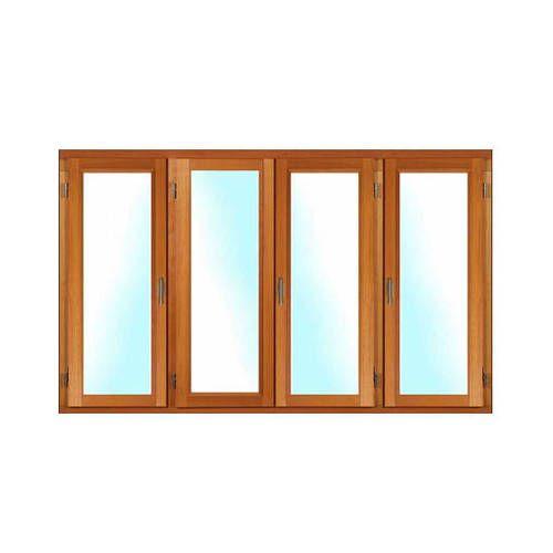 Porte fenêtre BOIS à recouvrement 4 vantaux ouverture à la française