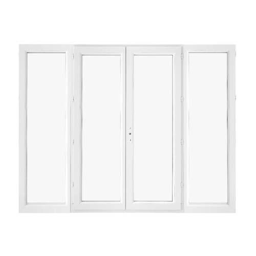 Porte fenêtre PVC 4 vantaux ouverture à la française