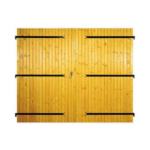 Porte de garage Bois à 2 vantaux avec pose