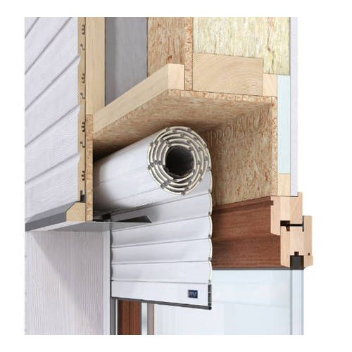 Volet Roulant MOB (ossature bois) ou ITE Lames PVC 40 mm Motorisation filaire avec interrupteur avec pose
