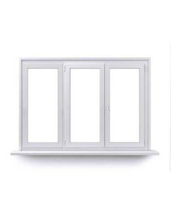 Fenêtre ALU ouvrant tradi 2 vantaux ouverture à la française avec un latéral fixe