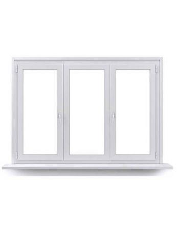 Fenêtre PVC 2 ouvrants à 1 vantail ouverture à la française avec un fixe central
