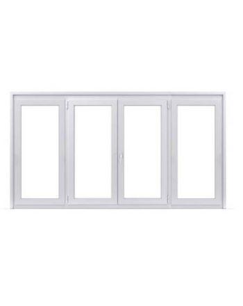 Fenêtre ALU ouvrant caché 2 vantaux ouverture à la française avec un latéral fixe de chaque coté