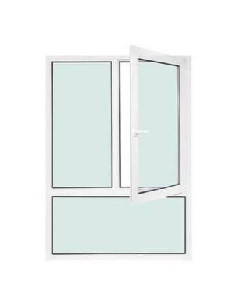 Fenêtre PVC 2 vantaux ouverture à la française avec allège fixe