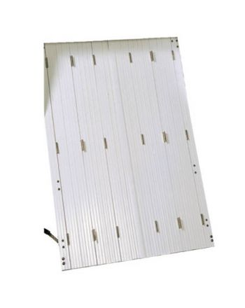 Persiennes PVC 12 vantaux repliables (2x6 vtx)