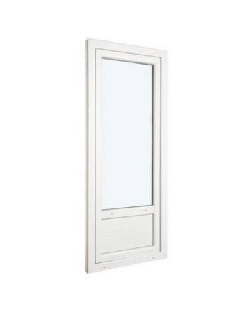 Porte fenêtre ALU ouvrant caché 1 vantail ouverture à la française avec soubassement