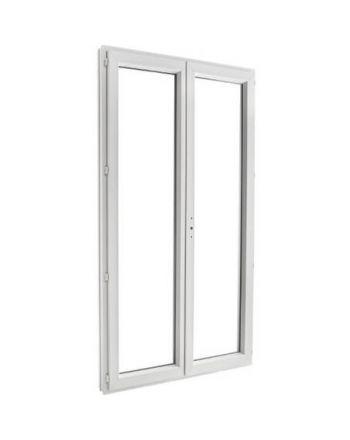 Porte fenêtre PVC 2 vantaux ouverture à la française