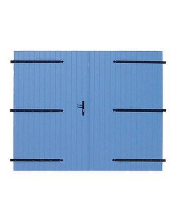 Porte de garage ALU 27 mm à 2 vantaux
