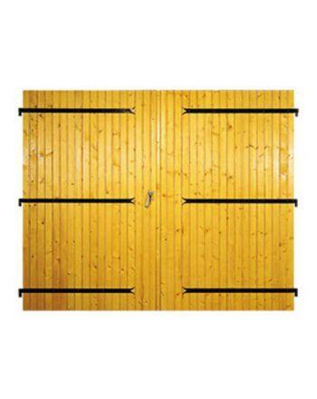 Porte de garage Bois à 2 vantaux