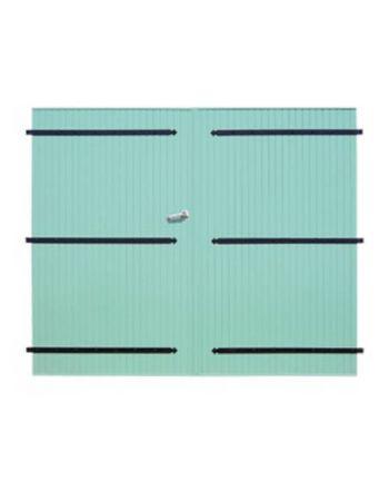 Porte de garage PVC 24 mm à 2 vantaux