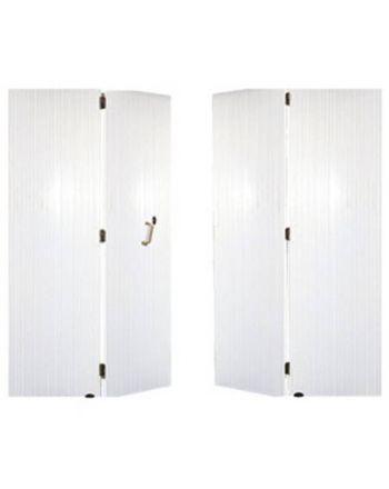 Porte de garage PVC à 4 vantaux
