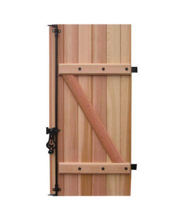 Volet battant BOIS Red Cedar Lames Verticales 27 mm 2 vantaux