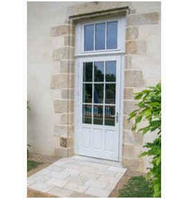 Porte-fenêtre bois avec assemblage