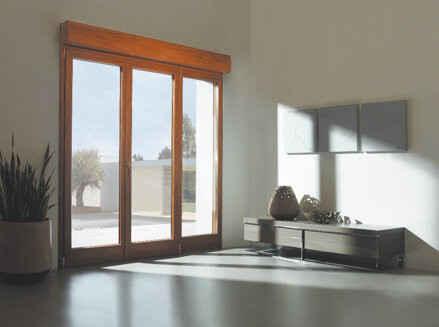 Porte-fenêtre PVC couleur chêne