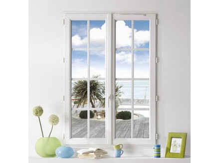 Fenêtre PVC blanc à battement centré