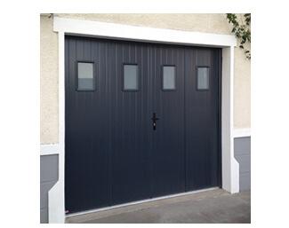 Porte de garage 4 vantaux à la française en aluminium