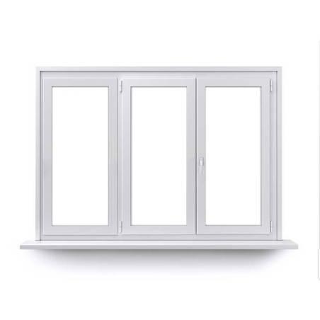 Fenêtre ALU ouvrant caché 2 vantaux ouvrant à la française avec un latéral fixe