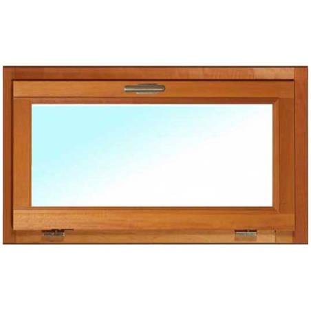 Fenêtre BOIS à recouvrement 1 vantail Soufflet abattant