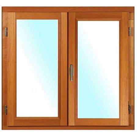 Fenêtre BOIS à recouvrement 2 vantaux ouverture à la française