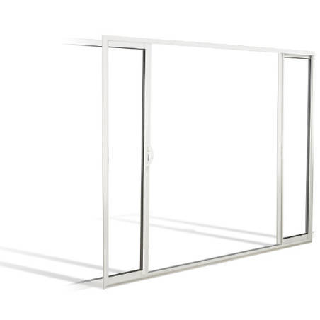 Fenêtre coulissante à galandage ALU 2 vantaux bi-rail