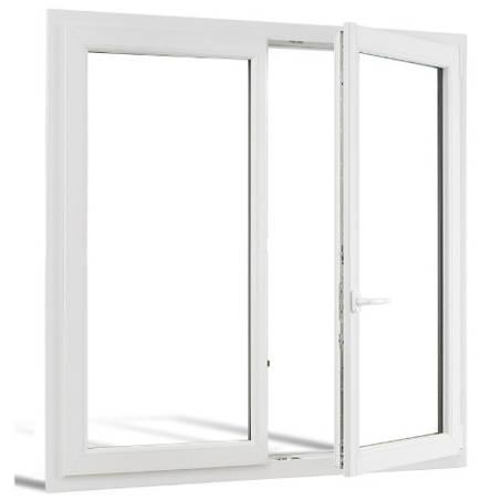 Fenêtre PVC 1 vantail ouverture à la française avec un latéral fixe