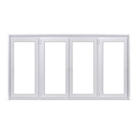 Fenêtre PVC 2 vantaux ouverture à la française avec 1 vantail ouverture à la française de chaque coté