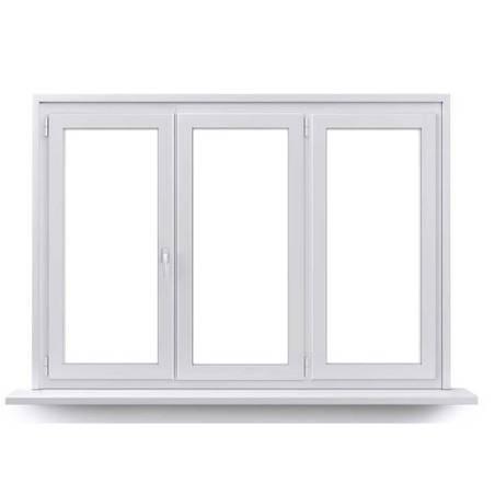 Fenêtre PVC 2 vantaux ouverture à la française avec un latéral fixe
