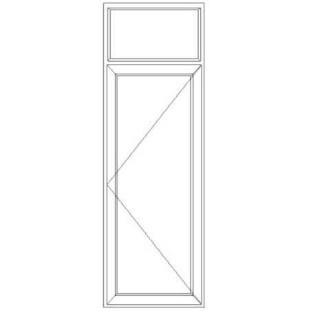 Porte fenêtre PVC 1 vantail ouverture à la française avec imposte fixe