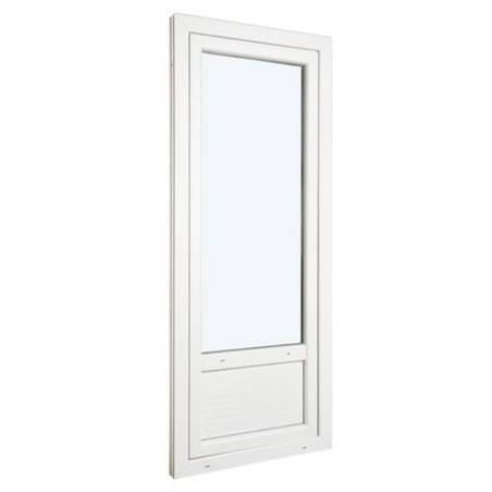 Porte fenêtre ALU ouvrant tradi 1 vantail ouverture à la française avec soubassement