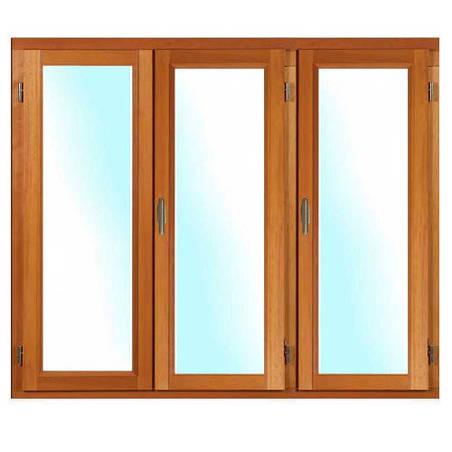 Porte fenêtre BOIS à Mouton et Gueule de Loup 3 vantaux ouverture à la française