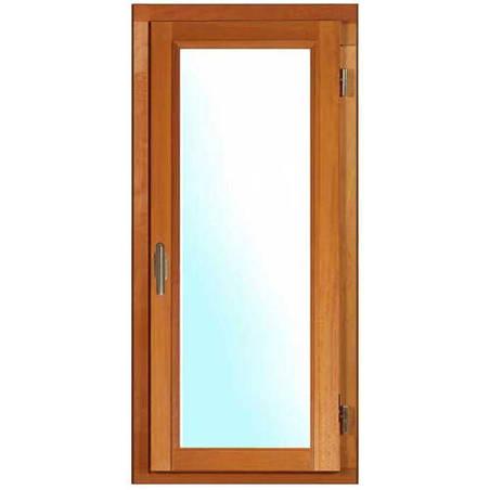 Porte fenêtre BOIS à recouvrement 1 vantail ouverture à la française